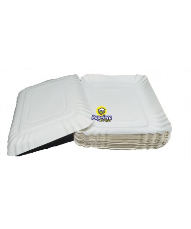 BANDEJA CARTON SATINADA (BLANCO) RECTANGULAR NUMERO 6